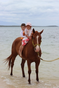 Seth on his first horse ride